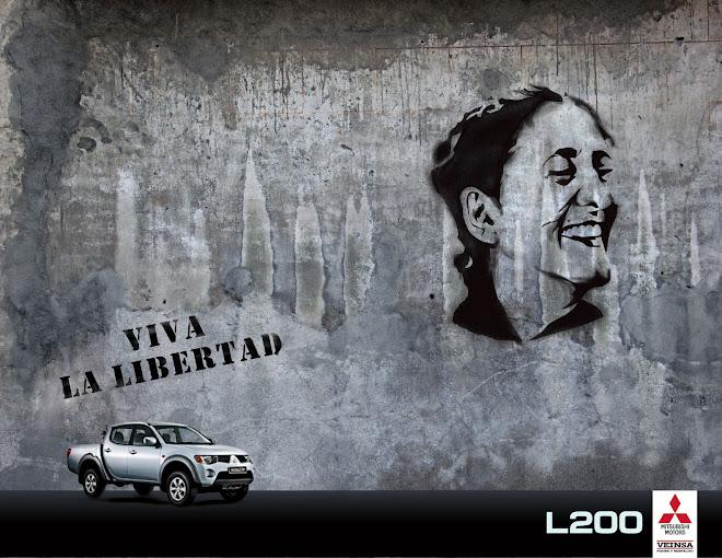 Ingrid betancourt (campaña Viva la Libertad, L200 Mitsubishi)