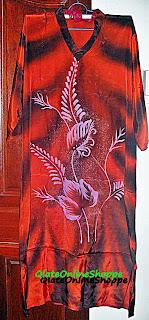 Kaftan batik lukis dari Kelantan