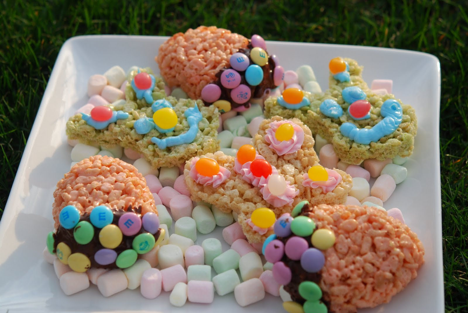 Easter Goodies Made from Rice Krispie Treats