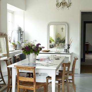 white kitchen interior modern kitchen table