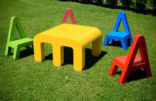 Friday, October 29, 2010 - Sometimes I Think, Sometimes I Am: Letter Furniture For Children