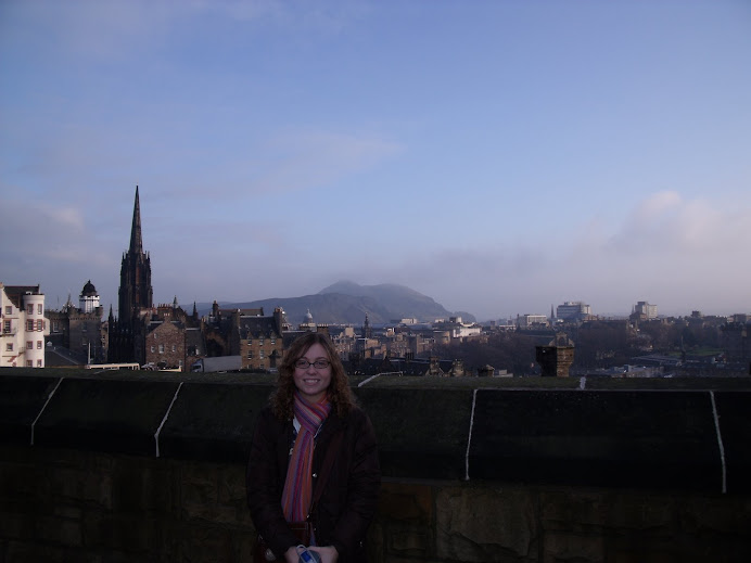 Looking at the city from the castle walls