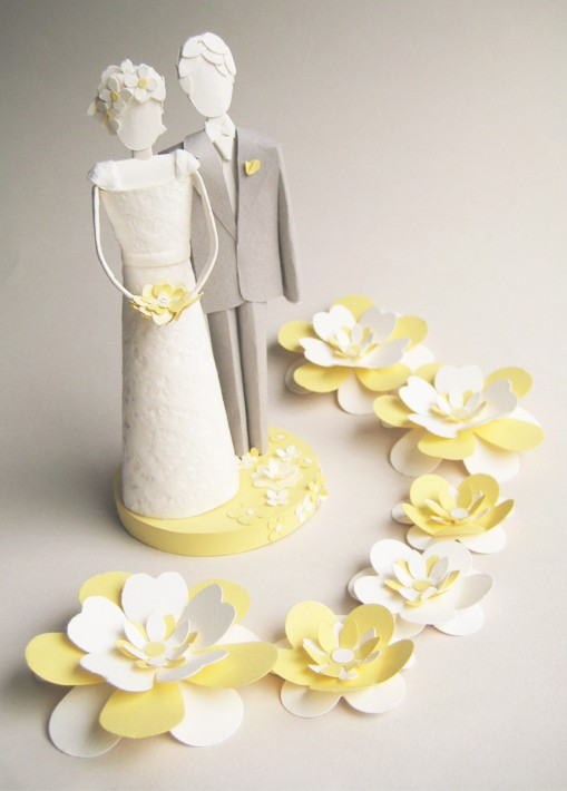 simply...splendid: Paper Art Wedding Cake Toppers