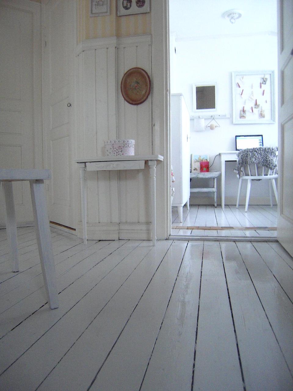 Fint hemma: måla trägolv