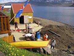 Iceland kayak clubhouse at Neskaupstadur, Iceland