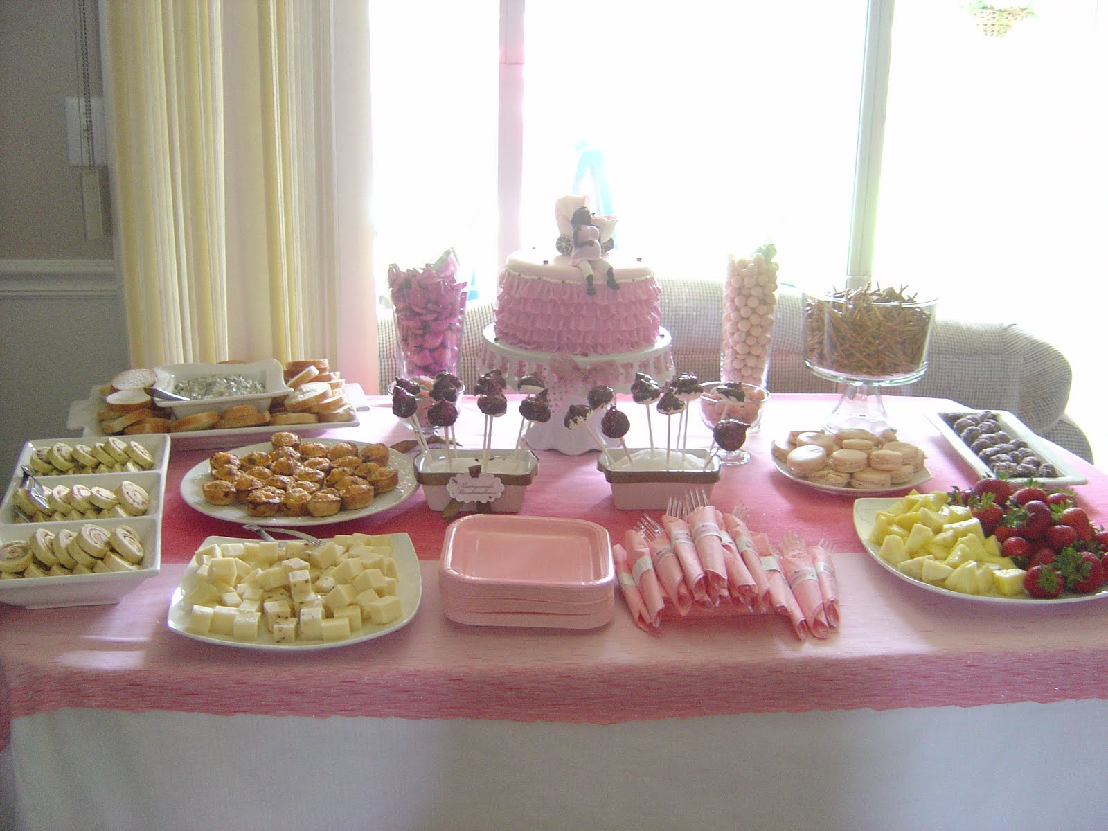 Baby shower food ideas baby shower food table ideas for Baby shower food decoration ideas