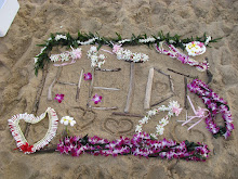 Tribute on the beach