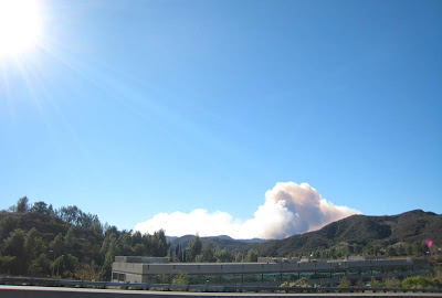 Malibu, California fire on November 24, 2007