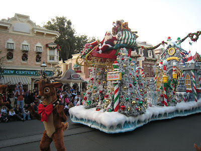 The Holiday Parade - A Christmas Fantasy - at Disneyland on Thanksgiving Day