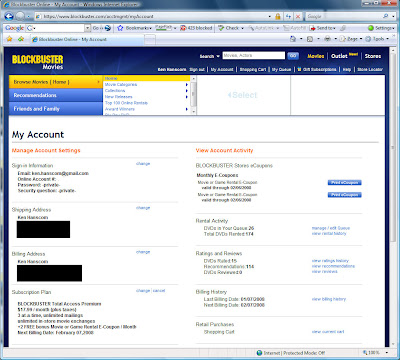 Blockbuster Total Rewards account status at the $17.99 rate