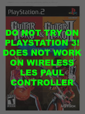 Do not buy this game if you started on the Les Paul Wireless Controller for Playstation 3.  It won't work