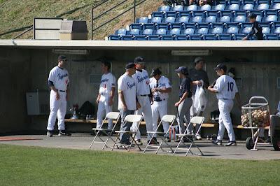 Pepperdine Homecoming 2008 - The men's baseball team playing against the alumni.