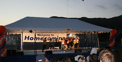 Pepperdine Homecoming 2008 - The Lip Sync competition for the students as part of the spirit cup.