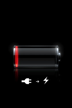 Low battery on the Apple iPhone, the iPhone will not charge.