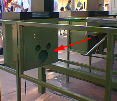 Hidden Mickey Disneyland Entrance Booth and Ticket Gate