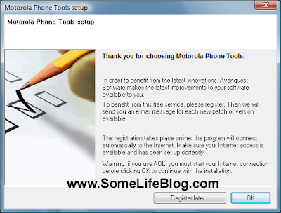 Motorola Phone Tools version 4.5 MPT Installation Guide Windows XP Picture 7