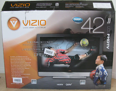 My new Vizio 42-inch LCD HDTV VU42LF