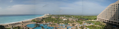 Not a bad view from our Hotel Room in the Hilton Cancun Beach & Golf Resort