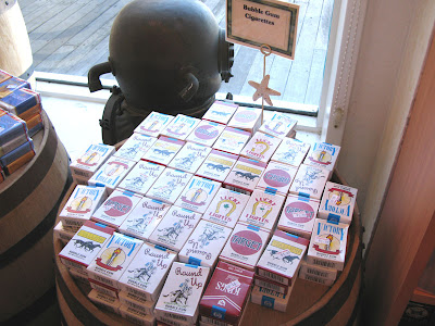 Bubble Gum Cigarettes at the Candy Barn at Pier 39 in San Francisco