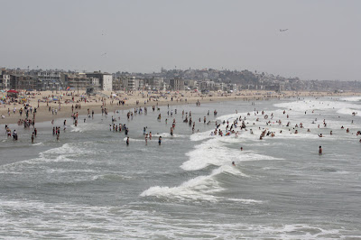 The Beach in Marina Del Rey was pretty crowded as well with a lot of folks celebrating Independence day at the beach.