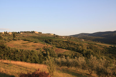 As dusk approaches, a golden tone sets in over the hills here outside of Florence.