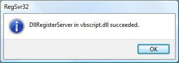 Confirming registering of the VBScript.dll with Windows Vista, you can correct the Custom Action error 2738 when installing your Blackberry Desktop Software