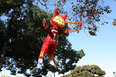 Every week a different Pinata stabbed with a spear greets us upon arrival. This week, it's the Sun Devil.