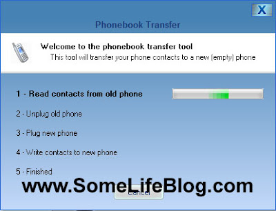 Motorola RAZR Transfer Phonebook: Now the software will automatically backup the phonebook on your mobile to memory at the start of the process.  This may take 1-2 minutes depending on the size of your phone book.