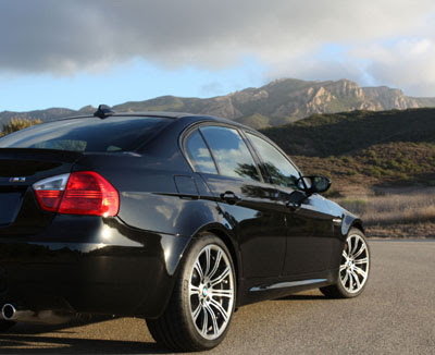 Stoney Point in the background on this rear view of my BMW M3 Sedan, 2008 E90 model