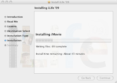 iPhoto '09 Upgrade in Progress.