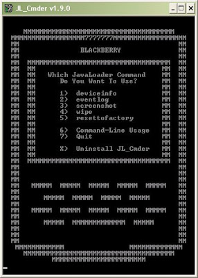 Use JL_Cmder v1.9.0 JL Commander to take screen shots of your blackberry device free download