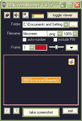 Blackberry Screen Shot application free download BBScreenShooter 1.65 is a fully functional application with great flexibility