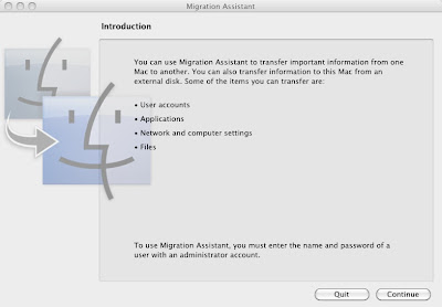 Migration Assistant for OS X Snow Leopard 10.6 to restore time machine backup to new installation on hard drive