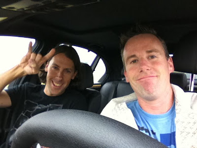 Josh and I hanging out in the M5; observing and ready to roll.