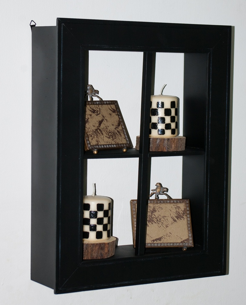 Reused Recycled Recreated Black Shadow Box 15