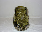 Sage knobbly Cased Vase