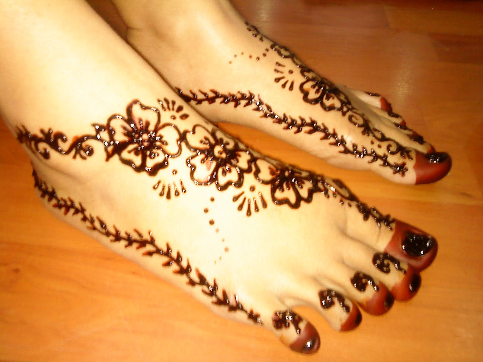 Mehndi Design Kaki : Elegant model henna simple di kaki makedes