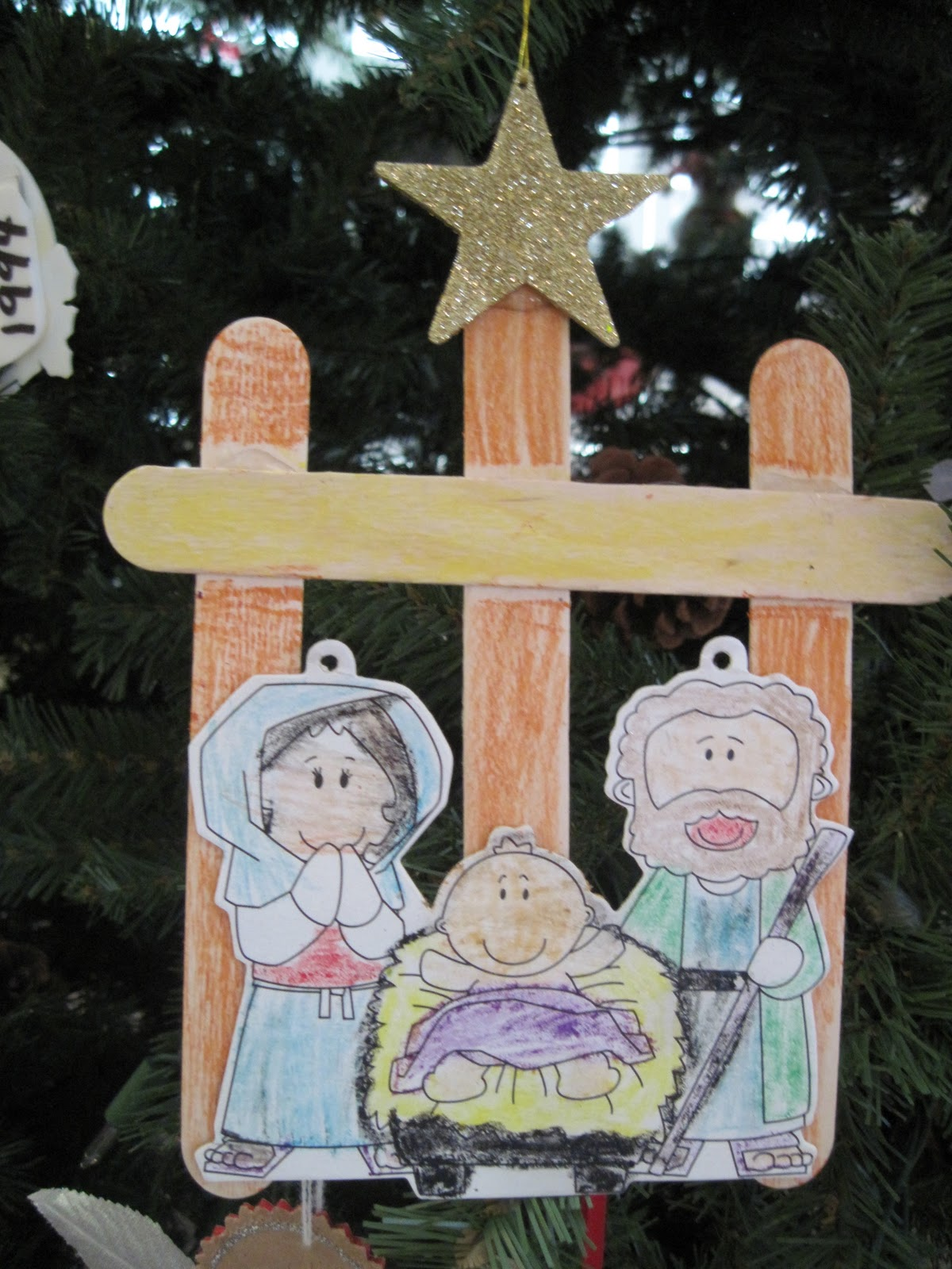 Grandma 39 s little pearls free hallmark recordable books for Nativity crafts to make