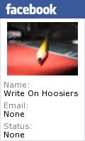 WRITE-ON HOOSIERS IS ON  FACEBOOK!