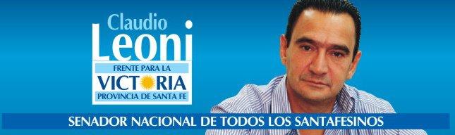 Claudio Leoni - Senador Nacional de todos los Santafesinos
