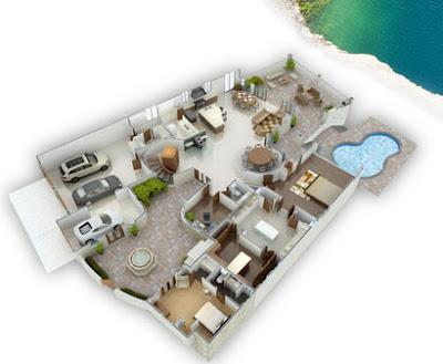 Planos 3d realistas de casa en houston texas - Planos de casa en 3d ...