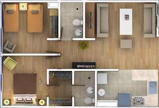 Planos departamentos 50 m2 for Departamentos pequenos planos