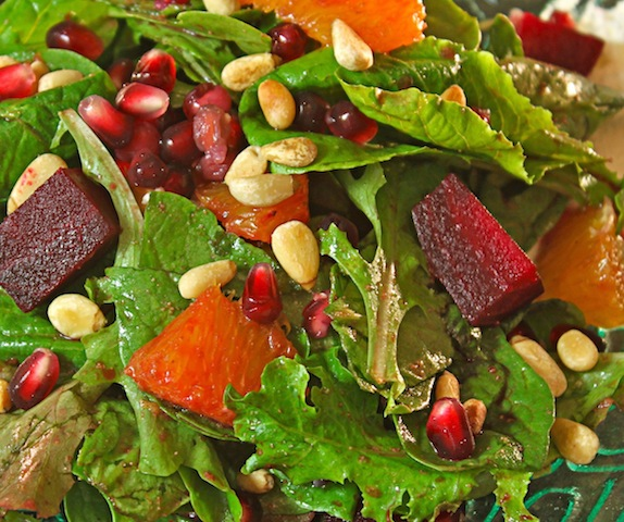 The Crown Jewel Affair: Roasted Beet Salad with Pomegranate-Cumin ...