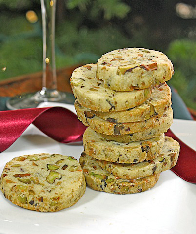 ... Sophisticated Santa: Pistachio Orange Cocktail Cookies and a Martini