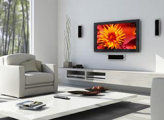 vDecoração de sala com Home Cinema
