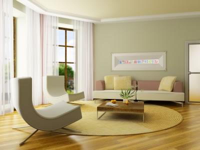 salas de estar simples decorada