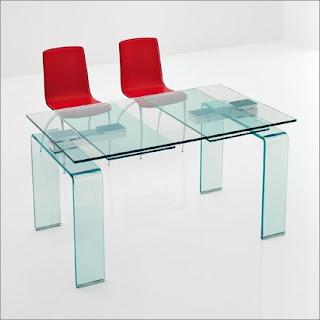 Ideias de decoração e Mobiliário - Mesa de vidro extensivel