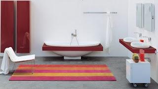 ideias de decoração mobiliário | decoração casa de banho a vermelho