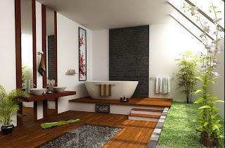 Ideias de decoração e mobiliário | Casa de banho moderna Zen.
