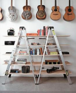 Ideias de decoração mobiliário | Prateleiras de escadote